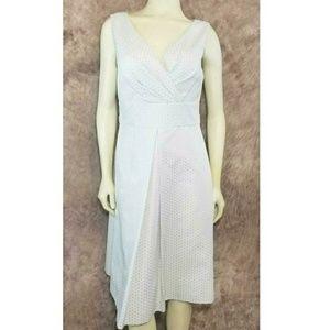 Talbots Pleated Geometric Pattern A-Line Dress